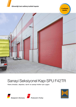 Sanayi Seksiyonel Kapı SPU F42TR