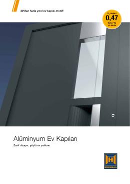 Alüminyum Ev Kapıları - Atay Yapı Sistemleri