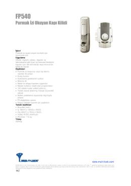 Parmak İzi Okuyan Kapı Kilidi - Mul-T-lock