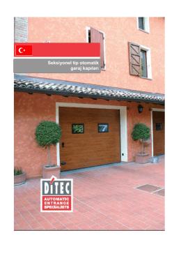 Seksiyonel tip otomatik garaj kapıları