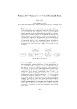 Sayısal Devrelerin Model Kontrol Tabanlı Testi