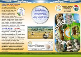 2015 Yılı Hayvancılık Desteklemeleri Liflet