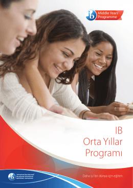IB Orta Yıllar Programı - International Baccalaureate