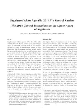 Sagalassos Yukarı Agora`da 2014 Yılı Kontrol Kazıları The