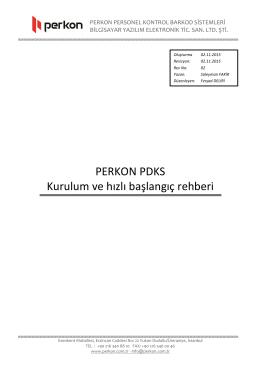 PERKON PDKS Kurulum ve hızlı başlangıç rehberi