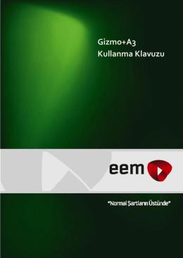Gizmo+A3 Kullanma Klavuzu - EEM Asansör Kumanda Sistemleri
