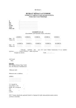RUHSAT MÜRACAAT FORMU - Maden İşleri Genel Müdürlüğü