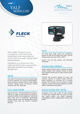fleck valf modelleri - Esli Endüstriyel Ürünler