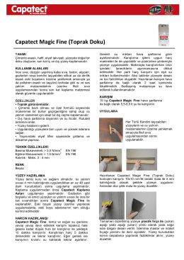 Capatect Magic Fine (Toprak Doku)