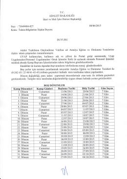 BOŞ DONEMLER - İdari ve Mali İşler Dairesi Başkanlığı