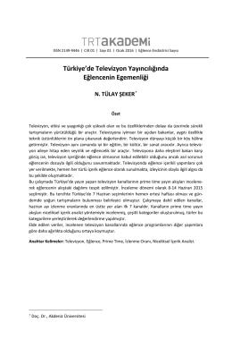 tülay şeker - trt akademi dergisi