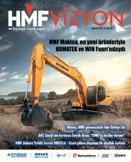 HMF Makina, en yeni ürünleriyle KOMATEK ve WIN Fuarı`ndaydı
