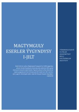 Magtymguly Pyragy 1 kitap