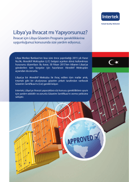 Libya broşür TR