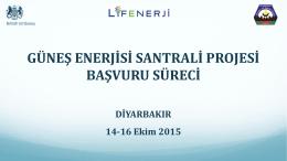 Ek3: Güneş Enerjisi Santrali Projesi Başvuru Süreci