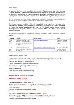 sponsorluk dosyası - 4. İlaç Kimyası: İlaç Etkin Maddesi Tasarımı