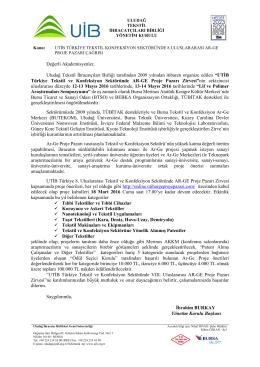 Değerli Akademisyenler, Uludağ Tekstil İhracatçıları Birliği