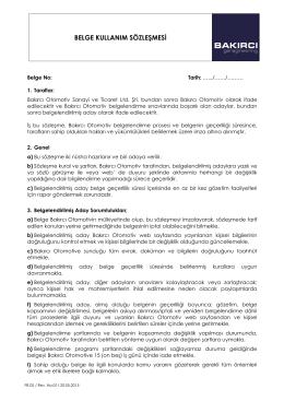 belge kullanım sözleşmesi