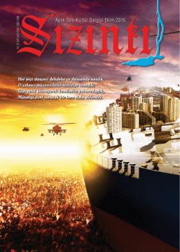 Aylık İlim-Kültür Dergisi Ekim 2015