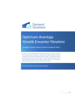 Optimum Avantaja Yönelik Envanter Yönetimi