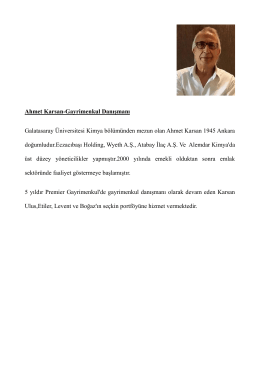 Ahmet Karsan-Gayrimenkul Danışmanı Galatasaray Üniversitesi
