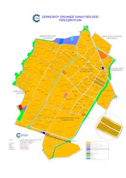 yerleşim planı çerkezköy organize sanayi bölgesi