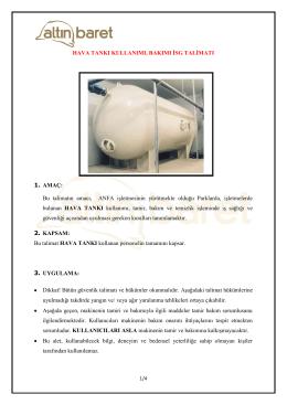 Hava Tankı Kullanımı İSG Talimatı