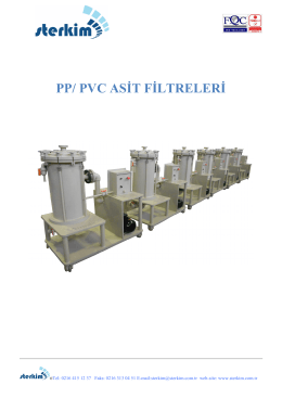 PP/ PVC ASİT FİLTRELERİ