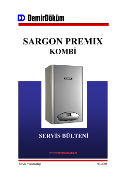 sargon premıx - DemirDöküm Servis Yönetim Sistemi v4.1