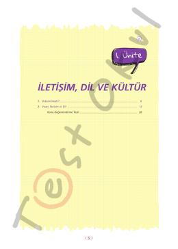 İLETİŞİM, DİL VE KÜLTÜR - Your Pocket Library