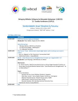 Sürdürülebilir Arazi Yönetimi İş Forumu