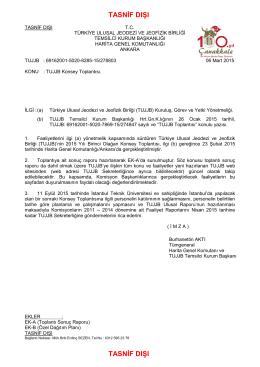 tasnif dışı - Türkiye Ulusal Jeodezi ve Jeofizik Birliği