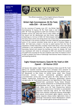 Newsletter - The English School of Kyrenia.
