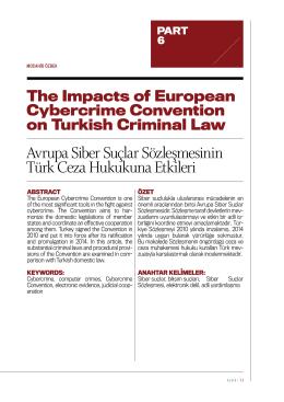 Avrupa Siber Suçlar Sözleşmesinin Türk Ceza Hukukuna Etkileri