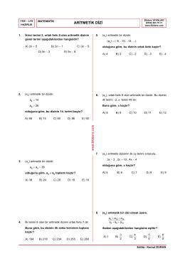 Aritmetik Dizi Testi-1