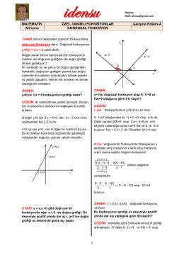 Doğrusal Fonksiyon ve Grafiği - fonksiyonlar-1