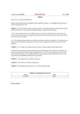(SGM/2013-11) Değişiklik Yapılmasına Dair Tebliğ