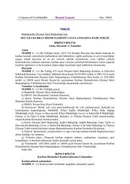 Resmî Gazete - Türkiye Diyanet Vakfı