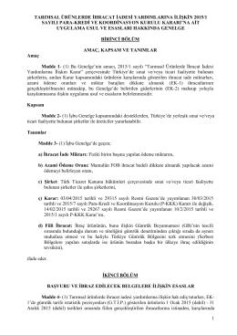 15/04/2010 TARİH VE 27553 SAYILI RESMİ GAZETE`DE