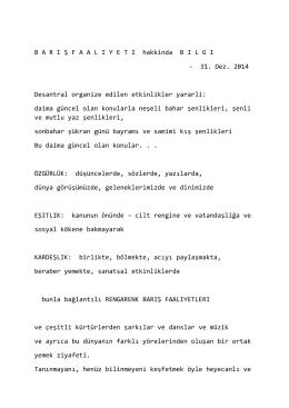 INFO zur FRIEDENSAKTION - 31 - Praxis Dr. Cornelia Blaich