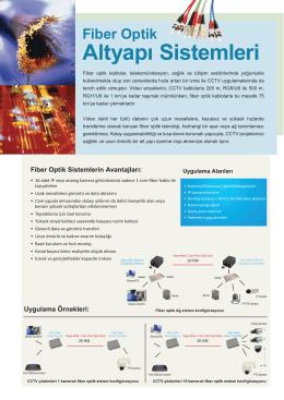Fiber Optik AltyapÕ Sistemleri