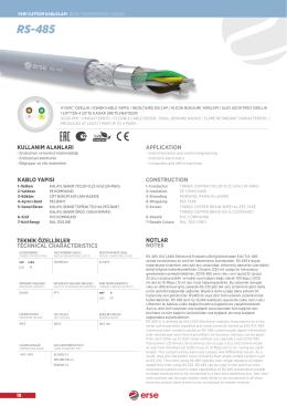 RS-485 - Erse Kablo
