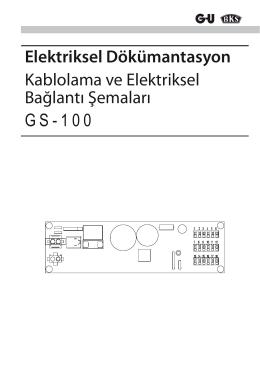 GS-100 Türkçe Bağlantı Şeması