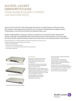 OmniSwitch 6450 Stabil Gigabit Ethernet LAN anahtarı