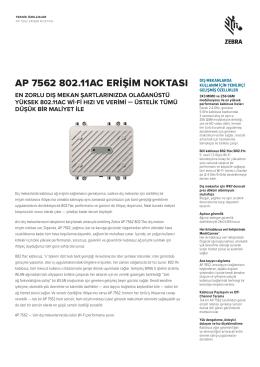 DÖKÜMAN İNDİRAP7562-Teknik Özellikleri