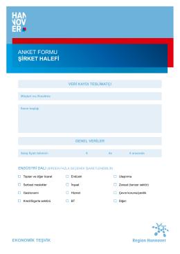 anket formu şırket halefı