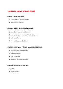 9. sınıf ders bilgileri