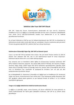 Sektörün Lider Fuarı ISAF SHF Olacak