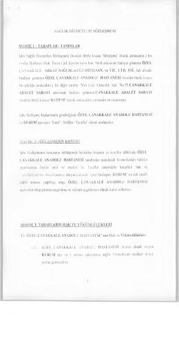 Çanakkale Cumhuriyet Başsavcılığı ile Özel Anadolu Hastanesi