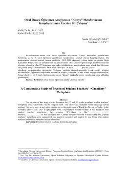 Tam Metin - Sosyal Bilimler Enstitüsü